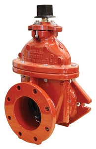 Matco-Norca 200FJW Series 4 in. Mechanical Joint x Flanged Cast Iron-Stainless Steel Resilient Wedge Gate Valve M200FJ11W at Pollardwater