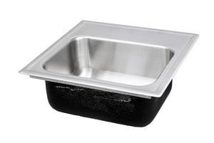 Just Manufacturing Stylist ADA 1-Bowl Drop-In, Self-Rimming and Topmount Rectangular Bar Sink with Center Drain in Stainless Steel JSLADA1815A05DCR