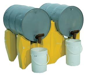 Ultratech International Drum Rack System 53 in. 4 Drum with Drain U2381 at Pollardwater