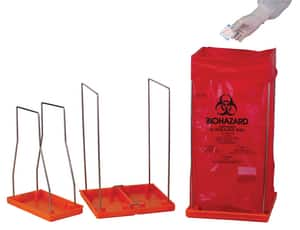 Bel-Art Products 3-3/8 x 5 x 8-1/2 in. Wire Frame for 8-1/2 x 11 in. F13166-0001 Biohazard Bags BH131931000 at Pollardwater