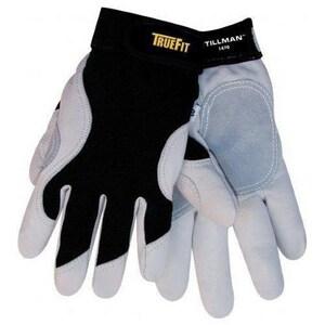Tillman® 1470 TrueFit™ M Size Elastic Driver Gloves in Black and Grey TIL1470M