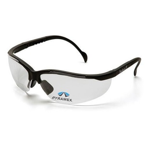 Pyramex Safety Products Venture II® Clear Lens Black Frame Safety Glasses PSB1810S