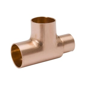 1 x 5/8 x 5/8 in. Cup Wrot Copper Reducing Tee CTGEE