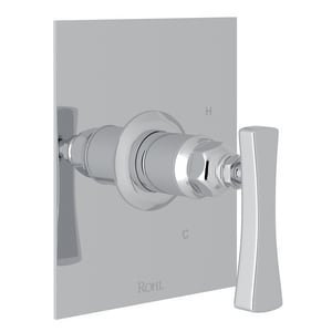 ROHL® Matheson™ Tub and Shower Pressure Balancing Valve Trim with Brass Single Lever Handle (Less Diverter) in Polished Chrome RML2012LM
