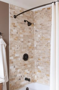 Moen Caldwell™ Tub and Shower Trim Package with 1-Function Showerhead in Mediterranean Bronze M82496EPBRB
