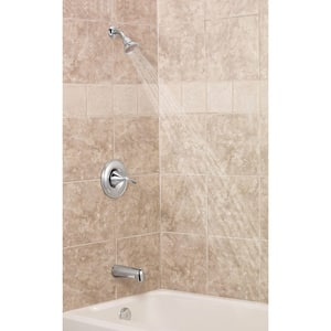 Moen Eva™ Single Handle Single Function Bathtub & Shower Faucet in Polished Chrome Trim Only MT62133EP