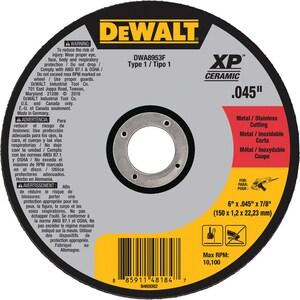 DEWALT 6 x 7/8 in. Treated Aluminum Oxide Cut-Off Wheel DDWA8953F