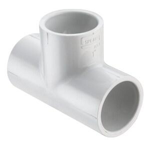 2-1/2 x 2-1/2 x 1-1/4 in. Socket Reducing Schedule 40 PVC Tee S401290