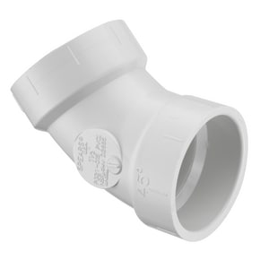 P321 Series 1-1/2 in. Hub Straight and DWV Schedule 40 PVC 45 Degree Elbow SP321015