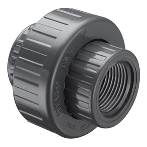 FIPT Straight Schedule 80 PVC Union with FKM O-Ring Seal S858