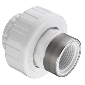 Socket x SR FIPT Straight Schedule 40 PVC Union with Buna-N O-Ring Seal S4590SR