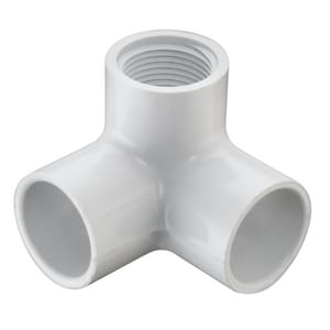 1/2 in. Socket x FIPT Straight Schedule 40 PVC 90 Degree Elbow with Side Outlet S414005
