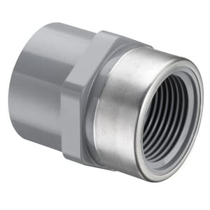 2 in. Socket x SR FIPT Straight Schedule 80 CPVC Split-System Transition Adapter with Stainless Steel Thread S835020CSR