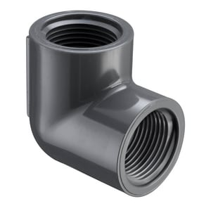 3/8 in. Threaded Straight Schedule 80 PVC 90 Degree Elbow S808003 at Pollardwater