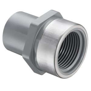 1 in. Spigot x SR FIPT Straight Schedule 80 CPVC Adapter with Stainless Steel Thread S878010CSR