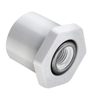 438 Series 1-1/2 x 3/4 in. Spigot x SR FIPT Reducing Schedule 40 Stainless Steel and PVC Bushing S438210SR