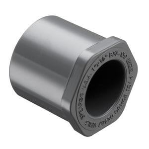 837 Series 1/2 x 1/4 in. Spigot x Socket Reducing Schedule 80 PVC Bushing S837072 at Pollardwater