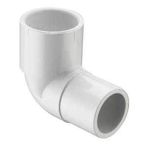 2-1/2 in. Spigot x Socket Straight and Street Schedule 40 PVC 90 Degree Elbow S409025