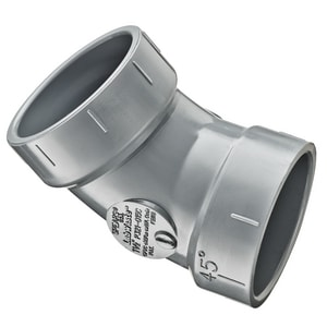 Spears P321 Series LabWaste™ Hub Straight and Street Schedule 40 CPVC 45 Degree Elbow with 1/8 Degree Bend SP321C
