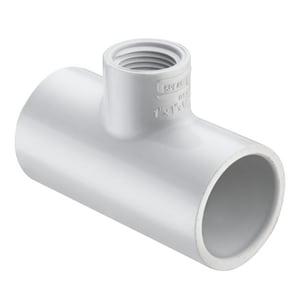 2-1/2 x 2-1/2 x 3/4 in. Socket x FIPT Reducing Schedule 40 PVC Tee S402288