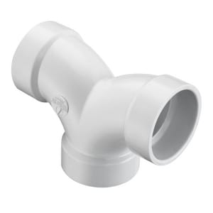 1-1/2 in. Hub Straight and DWV PVC Double 90 Degree Elbow SP327015