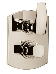 Fortis Serie San Marco Two Handle Bathtub & Shower Faucet in Polished Nickel (Trim Only) F8969100PN