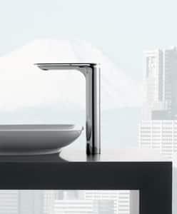 Graff Sento Single Handle Vessel Filler Bathroom Sink Faucet in Polished Chrome GG6305LM42LPC