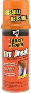 DAP 12 oz. Fire Barrier Insulating Spray Foam Sealant Kit D7565010012