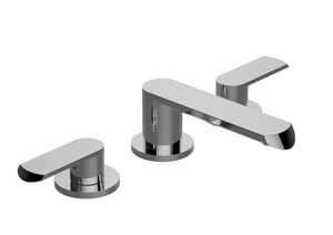 Graff Phase Two Handle Widespread Bathroom Sink Faucet in Polished Nickel GG6610LM45BPN
