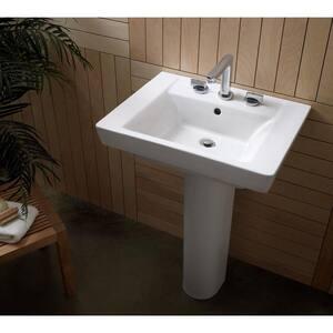American Standard Boulevard® Pedestal Bathroom Sink in Linen A0641008222