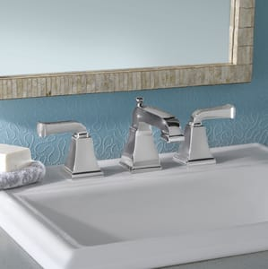 American Standard Town Square® 1.2 gpm Double Lever Handle Widespread Lavatory Faucet A2555821