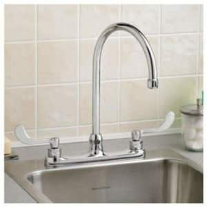American Standard Monterrey® Two Handle Wristblade Deck Mount Service Faucet in Polished Chrome A6409171002