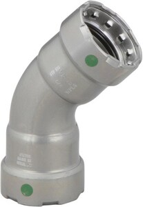 Viega MegaPress® 1-1/2 in. Press Carbon Steel 45 Degree Elbow with EPDM Sealing Element V2524