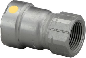 Viega MegaPress® 1-1/2 x 1 in. Press x FPT 180F Carbon Steel Adapter with HNBR Sealing Element V256