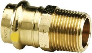 ProPressG Press x MNPT Bronze Gas Adapter V160M