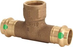 Viega ProPress® 2 x 2 x 3/4 in. Press x Press x FPT Bronze Reducing Tee V7976