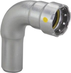 Viega MegaPressG Press x FTG Carbon Steel 90 Degree Elbow with HNBR Sealing Element V26056