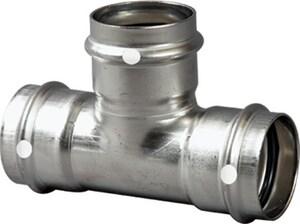 Viega 1-1/2 x 1-1/2 x 3/4 in. Press 304 Stainless Steel Reducing Tee V85