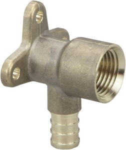Viega PureFlow® 1/2 in. PEX Crimp FPT Brass Drop Ear 90 Elbow V462