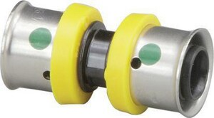Viega PureFlow® 1-1/2 x 1 in. Plastic PEX Pressure Coupling V49358