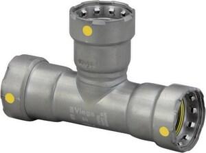 Viega MegaPress® 1-1/4 x 1-1/4 x 1 in. Press Carbon Steel Reducing Tee V25331