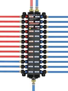 Viega ManaBloc® Model V5630 160 psi Polymer PEX Press 1/2 in. Valve Manifold V49303