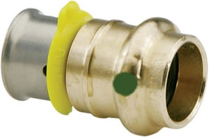 Viega 1 x 3/4 in. PEX Press 160 psi Reducing Bronze Coupling V99645