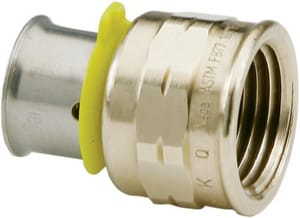 Viega PureFlow® 1/2 x 3/4 in. Bronze Pressure FNPT Straight Adapter V915