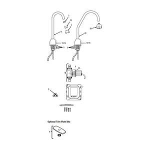 Sloan Valve Optima® No Handle Deck Mount Service Faucet in Polished Chrome S3315318