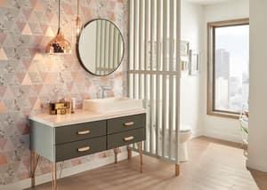Delta Faucet Modern Single Handle Vessel Filler Bathroom Sink Faucet in Polished Chrome D581LFPP