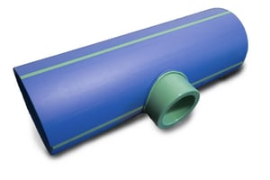 Aquatherm 10 x 10 x 4 in. Socket Weld Reducing SDR 17.6 Polypropylene Tee in Blue A2513630