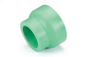 Aquatherm Greenpipe® 8 x 4 in. Socket Weld x Butt Weld Reducing SDR 7.4 Polypropylene Coupling A0111182