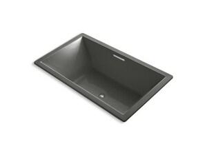 Underscore® 72 x 42 in. Drop-In Bathtub with Center Drain in Thunder Grey K1137-W1-58