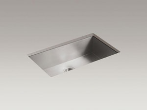 KOHLER Vault™ 33 x 22 in. No Hole Stainless Steel Single Bowl Dual Mount Kitchen Sink K3821-NA